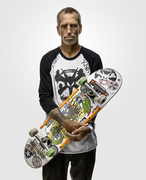 Mark Partain, pro skateboarder. San Jose, CA
