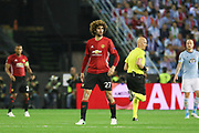 Marouane Fellaini Midfielder of Manchester United during the Europa League semi final game 1 match between Celta Vigo and Manchester United at Balaidos, Vigo, Spain on 4 May 2017. Photo by Phil Duncan.