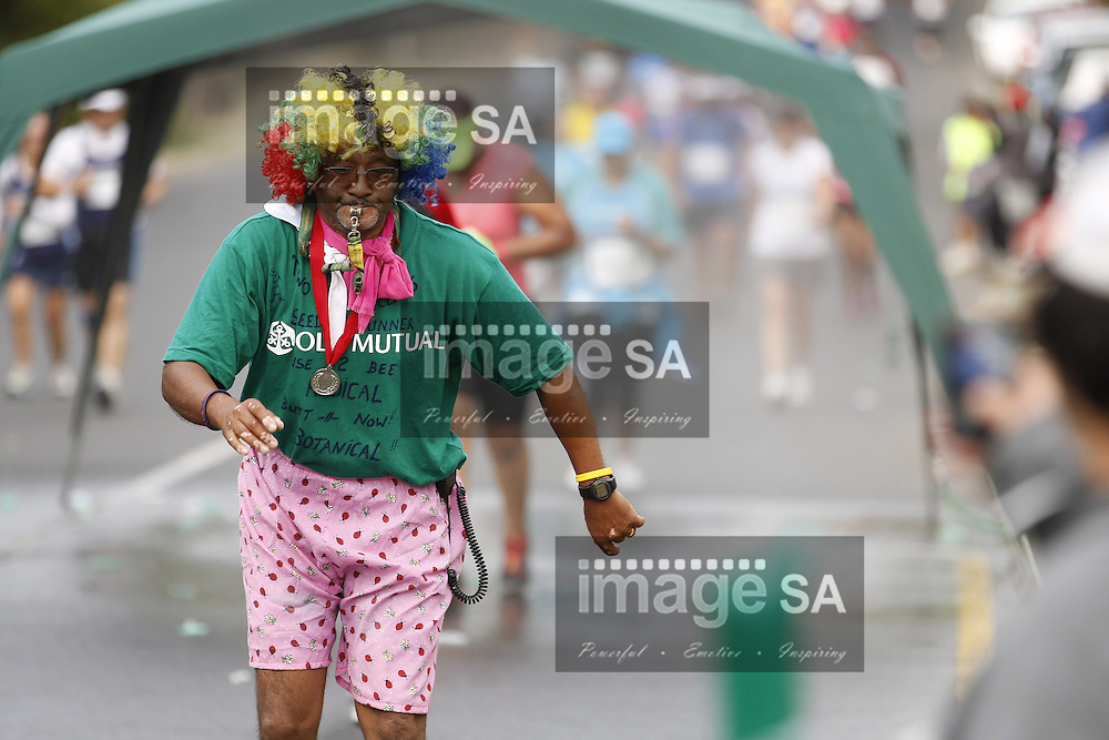 CAPE TOWN, South Africa - Saturday 30 March 2013, Clown  supporter during the half marathon of the Old Mutual Two Oceans Marathon. .Photo by Nick Muzik/ ImageSA