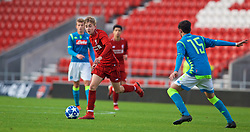 ST HELENS, ENGLAND - Monday, December 10, 2018: Liverpool's Jake Cain during the UEFA Youth League Group C match between Liverpool FC and SSC Napoli at Langtree Park. (Pic by David Rawcliffe/Propaganda)