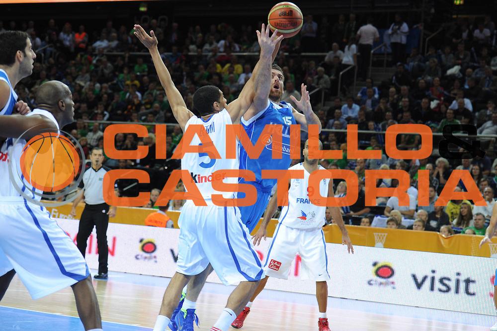 DESCRIZIONE : Kaunas Lithuania Lituania Eurobasket Men 2011 Quarter Final Round Francia Grecia France Greece<br /> GIOCATORE : Konstantinos Kaimakoglou<br /> CATEGORIA : tiro<br /> SQUADRA : Grecia Greece<br /> EVENTO : Eurobasket Men 2011<br /> GARA : Francia Grecia France Greece<br /> DATA : 15/09/2011<br /> SPORT : Pallacanestro <br /> AUTORE : Agenzia Ciamillo-Castoria/GiulioCiamillo<br /> Galleria : Eurobasket Men 2011<br /> Fotonotizia : Kaunas Lithuania Lituania Eurobasket Men 2011 Quarter Final Round Francia Grecia France Greece<br /> Predefinita :