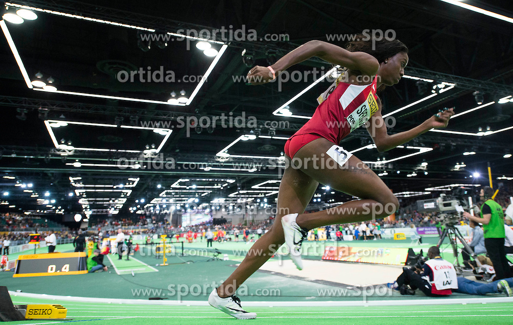 Ashley Spencer of the United States competes in the Women's 400 Metres Semi-Final during day two of the IAAF World Indoor Championships at Oregon Convention Center in Portland, Oregon, the United States, on March 18, 2016. EXPA Pictures &copy; 2016, PhotoCredit: EXPA/ Photoshot/ Yang Lei from Chongqing<br /> <br /> *****ATTENTION - for AUT, SLO, CRO, SRB, BIH, MAZ, SUI only*****