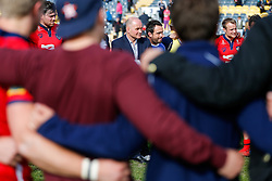Bristol Rugby Director of Rugby Andy Robinson looks on in the huddle after Bristol win the match 26-30 to finish top of the Championship table going into the playoffs - Photo mandatory by-line: Rogan Thomson/JMP - 07966 386802 - 25/04/2015 - SPORT - Rugby Union - Worcester, England - Sixways Stadium - Worcester Warriors v Bristol Rugby - Greene King IPA Championship.