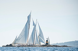 """In 1910 Morton Plant commissioned Elena to be designed by American naval architect Nathanael Herreshoff, the """"Wizard of Bristol"""", who was famed for designing sailing yachts for America's elite. Plant gave a wonderful design brief: build me a schooner that can win!<br /> <br /> Herreshoff gave Elena a slightly deeper keel than preceding designs of that time, lowering her centre of ballast, which improved her windward ability. Fresh out of the shed, Elena won most of her early races against the cream of the American schooner fleet. Seventeen years later came her crowning glory - victory in the 1928 Trans-Atlantic Race."""
