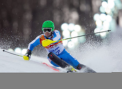 22.02.2014, Rosa Khutor Alpine Resort, Krasnaya Polyana, RUS, Sochi, 2014, Slalom, Herren, 1. Durchgang, im Bild Stefano Gross (ITA) // Stefano Gross of Italy in action during the 1st run of mens Slalom to the Olympic Winter Games Sochi 2014 at the Rosa Khutor Alpine Resort, Krasnaya Polyana, Russia on 2014/02/22. EXPA Pictures © 2014, PhotoCredit: EXPA/ Johann Groder