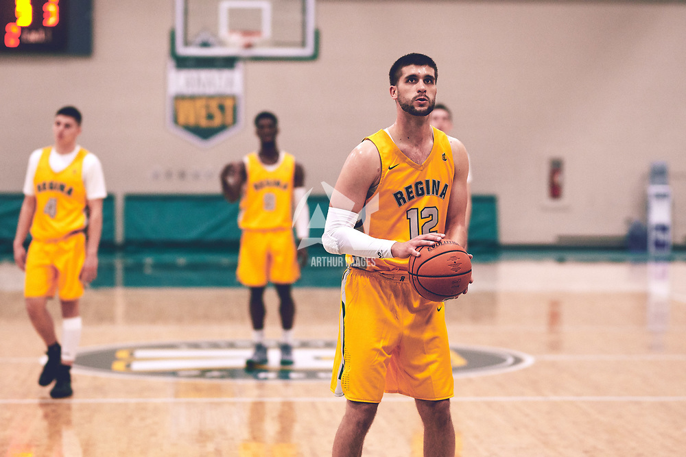 5th year forward, Kornel Tokolyi (12) of the Regina Cougars during the Men's Basketball Home Game on Fri Nov 02 at Centre for Kinesiology,Health and Sport. Credit: Arthur Ward/Arthur Images