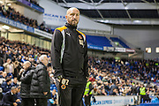 Wolverhampton Wanderers head coach Walter Zenga during the EFL Sky Bet Championship match between Brighton and Hove Albion and Wolverhampton Wanderers at the American Express Community Stadium, Brighton and Hove, England on 18 October 2016. Photo by Bennett Dean.
