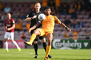 Newport County midfielder Joss Labadie (4) on defensive duties during the EFL Sky Bet League 2 match between Northampton Town and Newport County at the PTS Academy Stadium, Northampton, England on 14 September 2019.