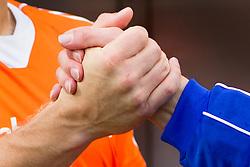 THE HAGUE - Rabobank Hockey World Cup 2014 - 2014-06-03 - MEN - The Netherlands - Korea - Spelers wensen elkaar succes