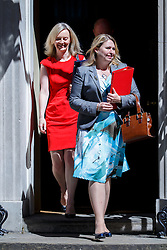 © Licensed to London News Pictures. 19/07/2016. London, UK. Justice Secretary LIZ TRUSS and Culture, Media and Sports Secretary KAREN BRADLEY attend the first cabinet meeting under Theresa May's leadership in Downing Street on Tuesday, 19 July 2016. Photo credit: Tolga Akmen/LNP