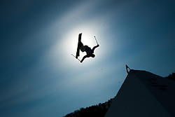 February 18, 2018 - Pyeongchang, South Korea - BENOIT BURATTI of France takes to the air during Mens Ski Slopestyle qualifications Sunday, February 18, 2018 at Phoenix Snow Park at the Pyeongchang Winter Olympic Games.  Buratti did not qualify for Sunday's finals. Photo by Mark Reis, ZUMA Press/The Gazette (Credit Image: © Mark Reis via ZUMA Wire)