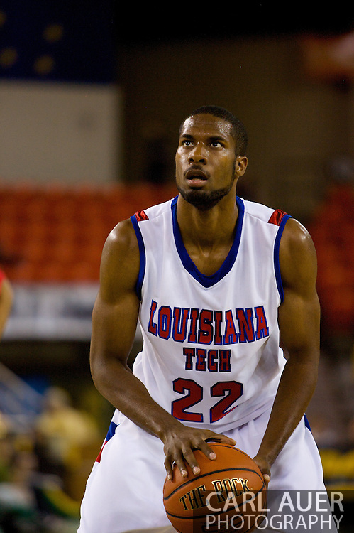 November 27, 2008: Louisiana Tech's Kyle Gibson (22) at the free throw line in the opening round of the 2008 Great Alaska Shootout at the Sullivan Arena