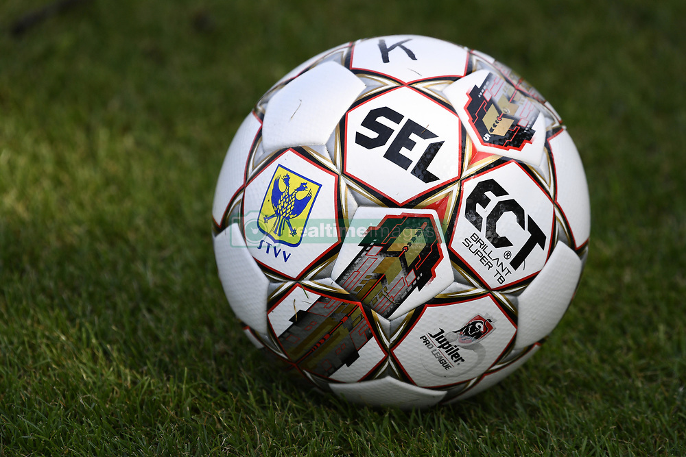 June 22, 2017 - Sint-Truiden, BELGIUM - Illustration picture shows the official STVV match ball during the first training session for the new 2017-2018 season of Jupiler Pro League team STVV Sint-Truiden, in Sint-Truiden, Thursday 22 June 2017. BELGA PHOTO YORICK JANSENS (Credit Image: © Yorick Jansens/Belga via ZUMA Press)
