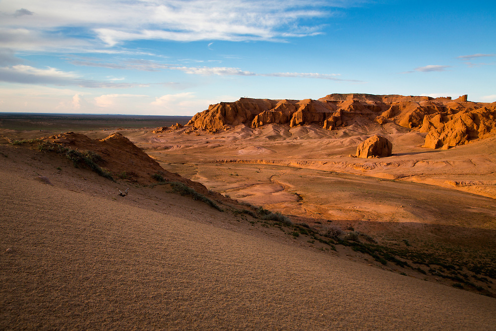 The Sunsets on the Flaming Cliffs in the Gobi Desert in Mongolia on August 1, 2012. © 2012 Tom Turner Photography.