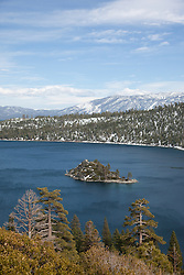 """""""Emerald Bay 3"""" - This is a photograph of Fannette Island in Emerald Bay, Lake Tahoe."""
