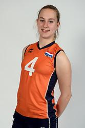 13-05-2014 NED: Selectie Nederlands volleybal team mannen, Arnhem<br /> Op Papendal werd het Nederlands team volleybal seizoen 2014-2015 gepresenteerd / Mira Innemee