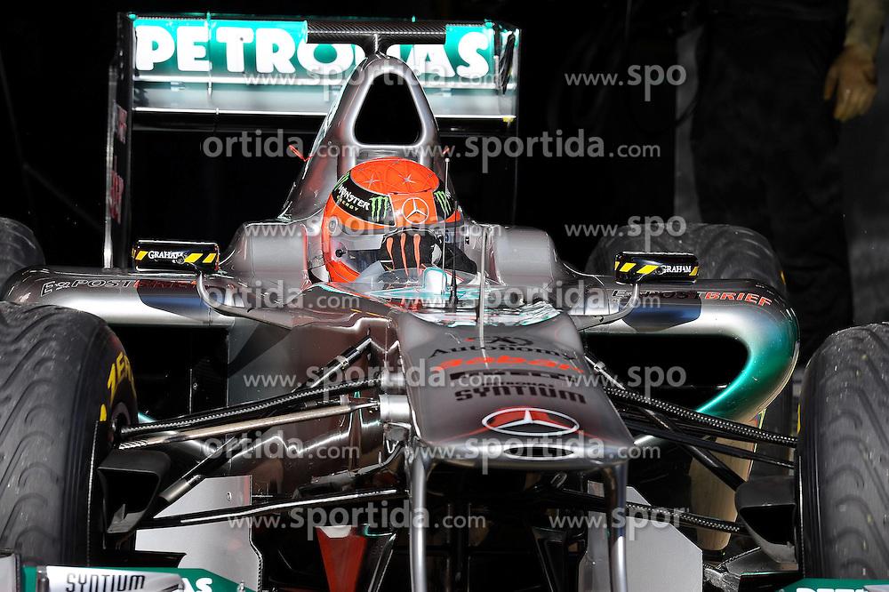 18.02.2011, Circuit de Catalunya, Barcelona, ESP, Formel 1 Test 3 2011,  im Bild Michael Schumacher (GER), Mercedes GP EXPA Pictures © 2011, PhotoCredit: EXPA/ nph/  Dieter Mathis       ****** out of GER / SWE / CRO  / BEL ******