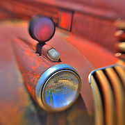 Old Fire Engine Headlight - Motor Transport Museum - Campo, CA - Lensbaby