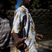 January 21, 2013 - Diabaly, Mali: Local children scavenge destroyed islamic militants' armoured vehicles in central Diabaly, a day after Mali government troops regain control of the city. Diabaly was under islamist militants control since the 14th of January.<br />
