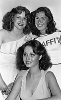 Belfast Rose of Tralee, Pauline Thomson, Anne Marie Mc Daid and Jennifer MnGuinness, 22/06/1976 (Part of the Independent Newspapers Ireland/NLI Collection).