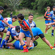 Action during the rugby union game played between Tawa (Colts) v Northern United (Colts), played at Lyndhurst Park, Tawa, Wellington, New Zealand, on 6 April 2019.   Final score 38-15 to Norths.