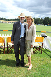 VISCOUNT & VISCOUNTESS COWDRAY at the 2008 Veuve Clicquot Gold Cup polo final at Cowdray Park Polo Club, Midhurst, West Sussex on 20th July 2008.<br /> <br /> NON EXCLUSIVE - WORLD RIGHTS