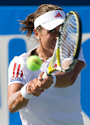 Anabel Medina Garrigues of Spain at 1st Round of Banka Koper Slovenia Open WTA Tour tennis tournament, on July 21 2009, in Portoroz / Portorose, Slovenia. (Photo by Vid Ponikvar / Sportida)