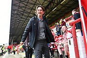 Brentford Manager Thomas Frank arrives for the EFL Sky Bet Championship match between Brentford and Queens Park Rangers at Griffin Park, London, England on 2 March 2019.