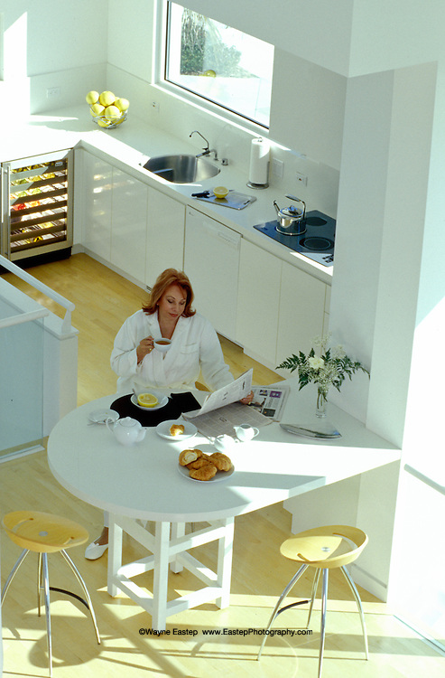 Annette Theisen in her upstairs kitchen, GE-Monogram.