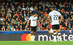 November 5, 2019, Valencia, Valencia, Spain: Daniel Parejo of Valencia reacts after goal during the during the UEFA Champions League group H match between Valencia CF and Losc Lille at Estadio de Mestalla on November 5, 2019 in Valencia, Spain (Credit Image: © AFP7 via ZUMA Wire)