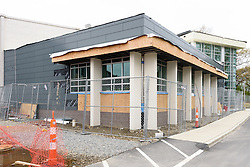 Central High School Bridgeport CT Expansion & Renovate as New. State of CT Project # 015-0174. One of 80 Photographs of Progress Submission 15, 05 May 2016 Media Center Exterior