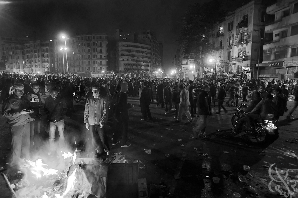 Egyptian protestors occupy Tahrir Square again as they take part in mass demonstrations November 20, 2011 in central Cairo, Egypt.  Protestors demanding the transition of power from military to civilian control clashed with Egyptian security forces for a second straight day in central Cairo, with hundreds injured and at least 11 protestors killed.  (Photo by Scott Nelson).