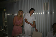 Vernon kaye and Tess Daly, Yasmin Mills book launch party ' How to Party', Harvey Nichols, London, SW1, 3 July 2006. <br />All profits from the book's sales are donated to Hope & Homes for Children.<br />ONE TIME USE ONLY - DO NOT ARCHIVE  © Copyright Photograph by Dafydd Jones 66 Stockwell Park Rd. London SW9 0DA Tel 020 7733 0108 www.dafjones.com