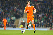 Netherlands defender Matthijs de Ligt (3) during the UEFA European 2020 Qualifier match between Northern Ireland and Netherlands at National Football Stadium, Windsor Park, Northern Ireland on 16 November 2019.