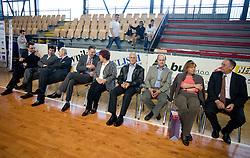 "Igor Luksic, Zdenka Cerar, Miro Cerar at event ""Slovenian Gymnastics stars"" after the European Championships in Milano, on April 6, 2009, in Hall Slovan, Kodeljevo, Ljubljana, Slovenia. (Photo by Vid Ponikvar / Sportida)"