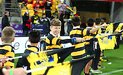 Flag Bearers during the Round 14 Super Rugby match, Hurricanes v Highlanders at Westpac Stadium, Wellington. 27th May 2016. Copyright Photo.: Grant Down / www.photosport.nz