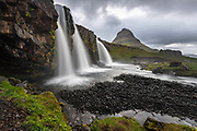 Seljalandsfoss waterfall in  west-Iceland