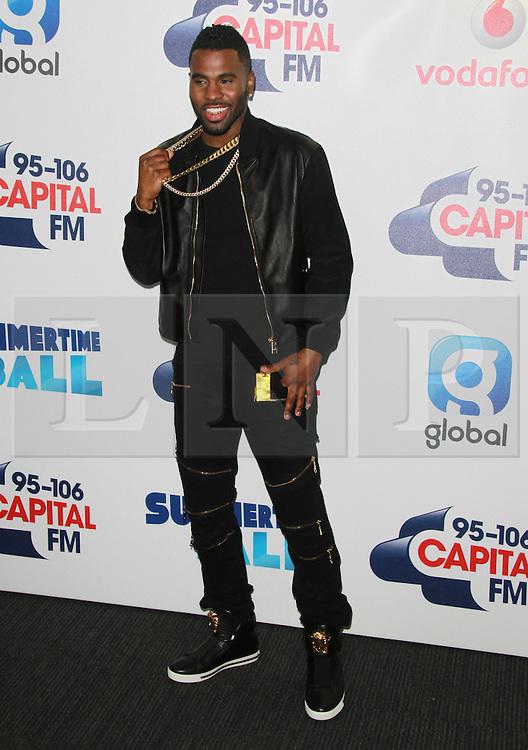 © London News Pictures. Jason Derulo, Capital FM Summertime Ball, Wembley Stadium, London UK, 06 June 2015, Photo by Brett D. Cove /LNP