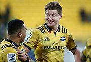 Hurricanes Jordie Barrett. Super Rugby Quarter Final, Hurricanes v Chiefs. Westpac Stadium, Wellington. Friday 20th July 2018. © Copyright Photo: Grant Down / www.photosport.nz