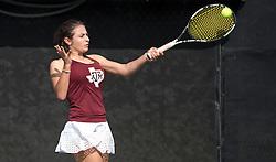 SFA vs. Texas A&M in a NCAA women's tennis match Jan. 21st, 2017, in College Station, Texas.