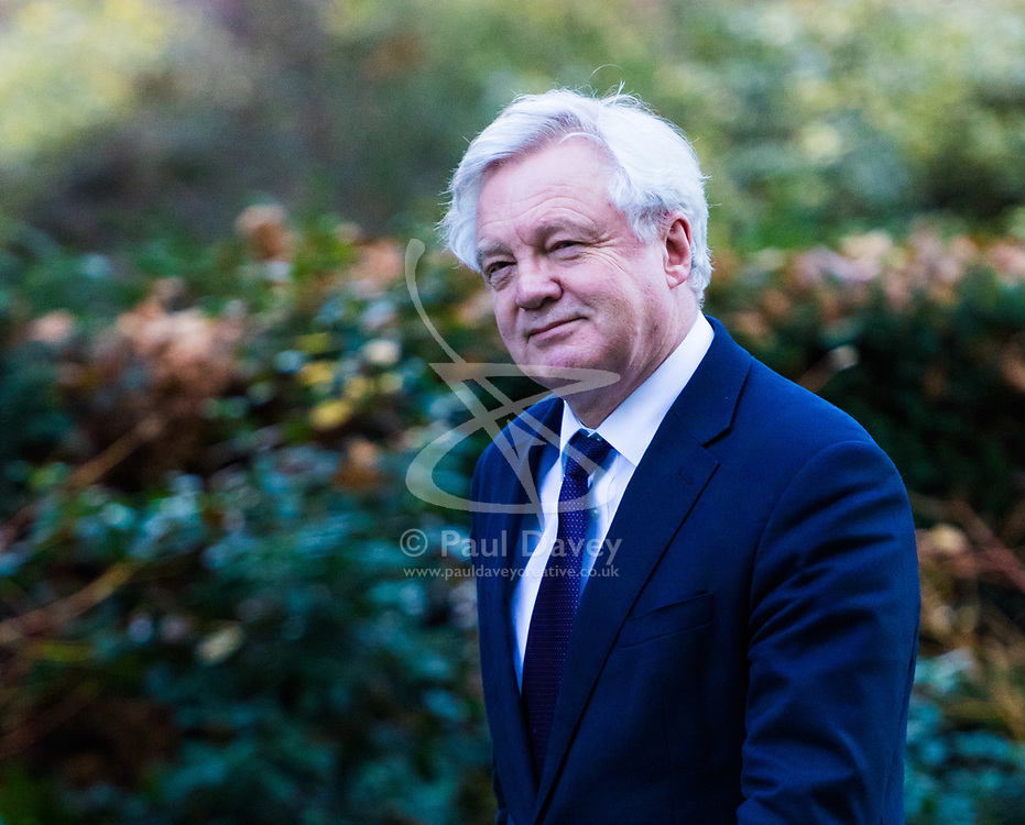 London, December 18 2017. Secretary of State for Exiting the European Union David Davis arrives at 10 Downing Street fora meeting of Prime Minister Theresa May's 'Brexit Cabinet'. © Paul Davey