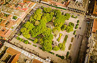 Aerial view of parque central in Antigua Guatemala on Friday, Sept. 28, 2018.