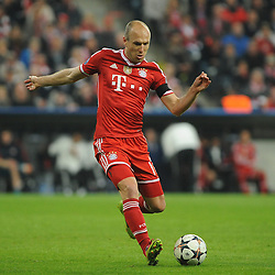 29.04.2014, Allianz Arena, Muenchen, GER, UEFA CL, FC Bayern Muenchen vs Real Madrid, Halbfinale, Ruckspiel, im Bild Arjen Robben (FC Bayern Muenchen) // during the UEFA Champions League Round of 4, 2nd Leg Match between FC Bayern Munich vs Real Madrid at the Allianz Arena in Muenchen, Germany on 2014/04/30. EXPA Pictures &copy; 2014, PhotoCredit: EXPA/ Eibner-Pressefoto/ Stuetzle<br /> <br /> *****ATTENTION - OUT of GER*****