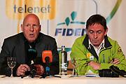 BELGIUM / TELENET FIDEA CYCLING TEAM / CYCLOCROSS / VELDRIJDEN / 2012-2013 / PRESS CONFERENCE / PERSCONFERENTIE NAAR AANLEIDING VAN HET BK / TEAM MANAGER HANS VAN KASTEREN / NOEL TRUYERS /