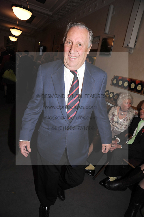 FREDERICK FORSYTH at a party to celebrate the publication of 'Past Imperfect' by Julian Fellowes held at Cadogan Hall, 5 Sloane Terrace, London SW1 on 4th November 2008.