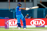 India ODI bowler Shardul Thakur clears the boundary to score six during the 3rd Royal London ODI match between England and India at Headingley Stadium, Headingley, United Kingdom on 17 July 2018. Picture by Simon Davies.