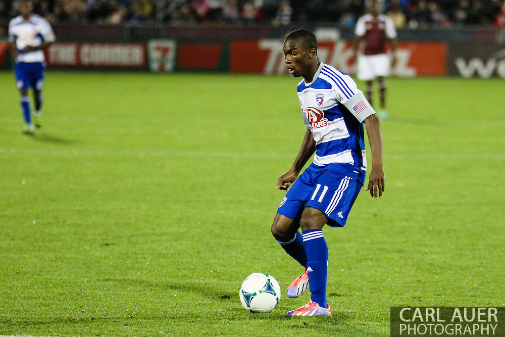 September 14th, 2013 -  FC Dallas forward Fabian Castillo (11) controls the ball at the top of the box in the second half of the MLS Soccer game between FC Dallas and the Colorado Rapids at Dick's Sporting Goods Park in Commerce City, CO