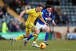 Ollie Clarke of Bristol Rovers takes on Ian Henderson of Rochdale- Mandatory by-line: Matt McNulty/JMP - 04/02/2017 - FOOTBALL - Crown Oil Arena - Rochdale, England - Rochdale v Bristol Rovers - Sky Bet League One