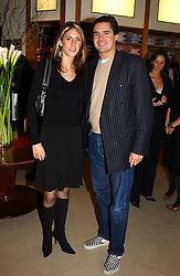 MISS KATHERINE TAYLOR and her brother MR EDWARD TAYLOR at a party to celebrate the 21st year of Hackett held at their store in Sloane Street, London on 26th October 2004.<br /><br />NON EXCLUSIVE - WORLD RIGHTS