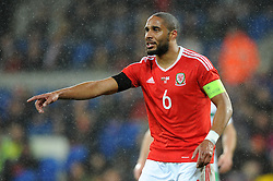 Ashley Williams of Wales - Mandatory by-line: Dougie Allward/JMP - Mobile: 07966 386802 - 24/03/2016 - FOOTBALL - Cardiff City Stadium - Cardiff, Wales - Wales v Northern Ireland - Vauxhall International Friendly